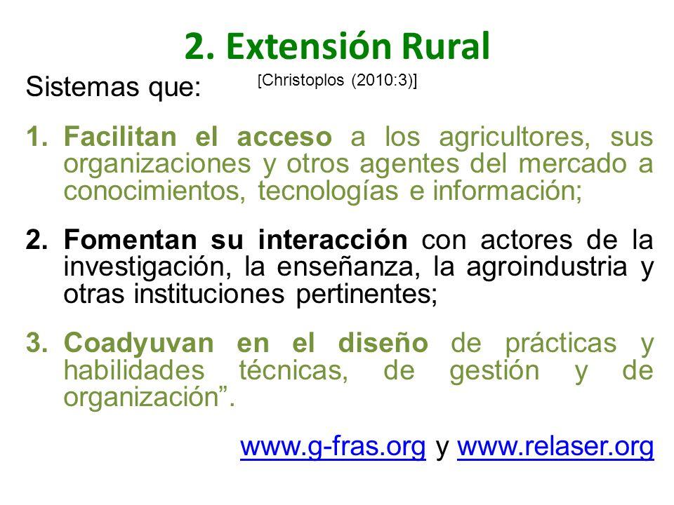2. Extensión Rural [Christoplos (2010:3)]